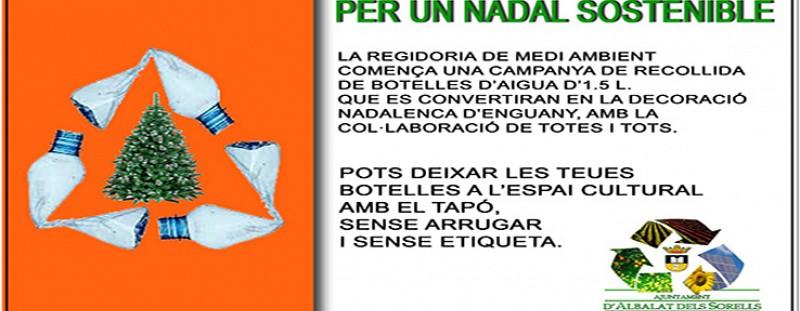 RECOLLIDA DE BOTELLES DE PLÀSTIC D'AIGUA PER A LA CAMPANA DE NADAL (REGIDORIA DE MEDI AMBIENT)