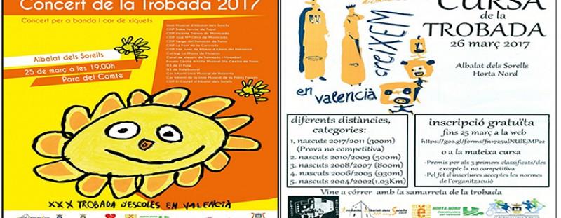 CONCERT DE LA TROBADA (25 DE MARÇ) I CURSA DE LA TROBADA (26 DE MARÇ)